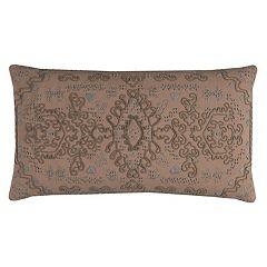 Rizzy Home Center Medallion Oblong Throw Pillow