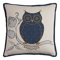 Rizzy Home Owl Textured Throw Pillow
