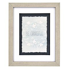 New View 'Be Grateful' Floral Framed Wall Art