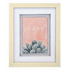 New View 'Life Is Good' Succulent Framed Wall Art