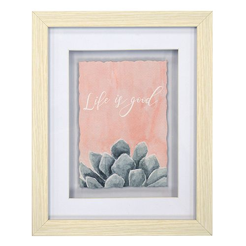 New View Life Is Good Succulent Framed Wall Art