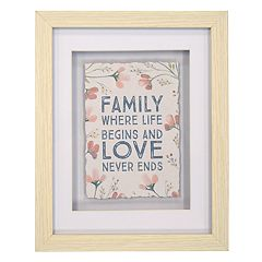 New View 'Family' Floral Framed Wall Art