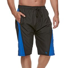 Big & Tall Champion Side-Striped Microfiber Board Shorts