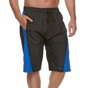 Big & Tall Champion Side-Striped Microfiber Board Shorts