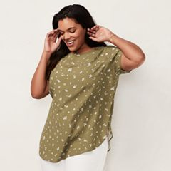 Plus Size LC Lauren Conrad Printed Top