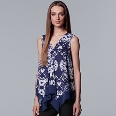 Women's Simply Vera Vera Wang Floral Draped Tank