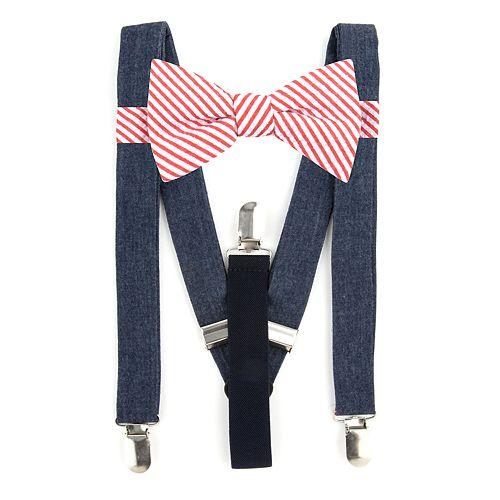 Men's Bow Tie Tuesday Pre-Tied Bow Tie & Suspenders Set