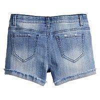 Girls 7-16 & Plus Size Mudd® Extreme Wash Frayed Cuff Denim Shorts