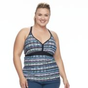 Plus Size Free Country Racerback Tankini Top