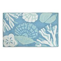 Destinations Cove Bay Shell Bath Rug