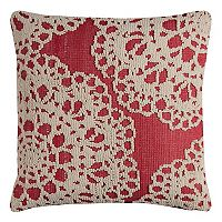 Rizzy Home Medallion Embroidered Textural Throw Pillow