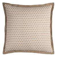 Rizzy Home Jute Pick Stripe Throw Pillow