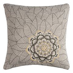 Rizzy Home Medallion Petals Duck Cloth Throw Pillow