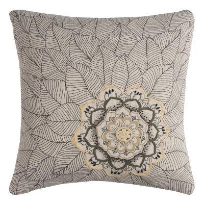 Rizzy Home Medallion Petals Duck Cloth Throw Pillow