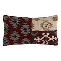 Rizzy Home Southwestern Motifs Wool Blend Oblong Throw Pillow