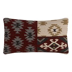 Rizzy Home Southwestern Motifs Wool Blend Oblong Throw Pillow