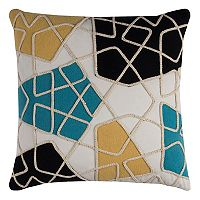 Rizzy Home Colorblock Prisms Throw Pillow
