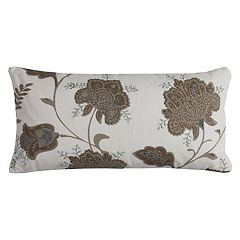 Rizzy Home Floral Duck Cloth Oblong Throw Pillow