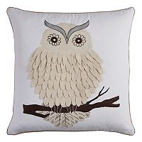 Rizzy Home Owl Duck Cloth Throw Pillow