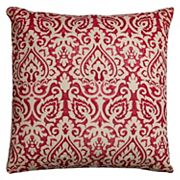 Rizzy Home Damask Burlap Throw Pillow