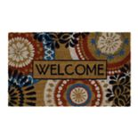 "Mohawk® Home Floral Mix America ""Welcome"" Coir Doormat - 18'' x 30''"
