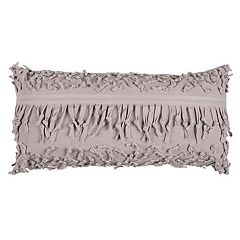 Rizzy Home Textured Fringe Oblong Throw Pillow