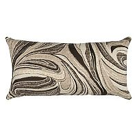 Rizzy Home Abstract Swirl I Oblong Throw Pillow