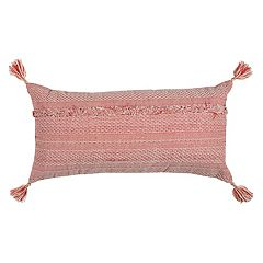 Rizzy Home Tassels Deconstructed Oblong Throw Pillow