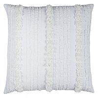 Rizzy Home Vertical Deconstructed Stripe Throw Pillow