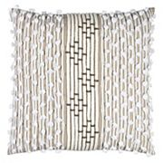 Rizzy Home Embellished Stripe Throw Pillow