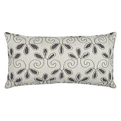 Rizzy Home Floral Oblong Throw Pillow
