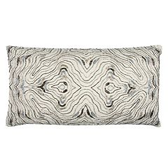 Rizzy Home Abstract Swirl II Oblong Throw Pillow