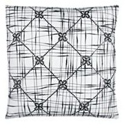 Rizzy Home Geometric Textured Abstract Throw Pillow