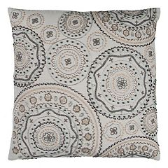 Rizzy Home Geometric Medallions Throw Pillow