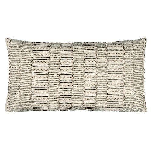 Rizzy Home Stripe Oblong Throw Pillow