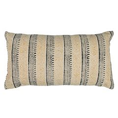 Rizzy Home Vertical Stripe Oblong Throw Pillow