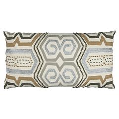 Rizzy Home Geometric Oblong Throw Pillow