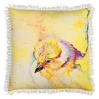 Rizzy Home Bird Fringe Throw Pillow