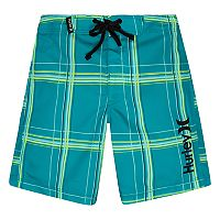Toddler Boy Hurley Plaid Board Shorts