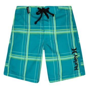 Toddler Boy Hurley Plaid Board Shorts