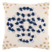 Rizzy Home Floral Tassels Throw Pillow