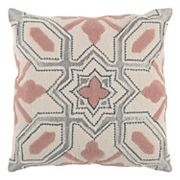 Rizzy Home Deconstructed Geometric Applique Throw Pillow