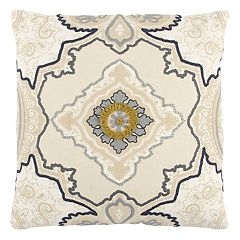 Rizzy Home Center Medallion Throw Pillow