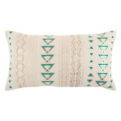 Rizzy Home Textured Geometric II Oblong Throw Pillow