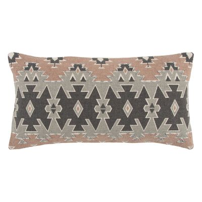 Rizzy Home Printed Geometric Oblong Throw Pillow