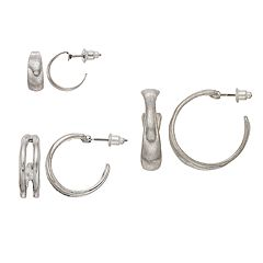 Nickel Free Hoop Earring Set
