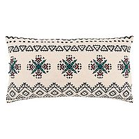 Rizzy Home Tribal Medallion Oblong Throw Pillow