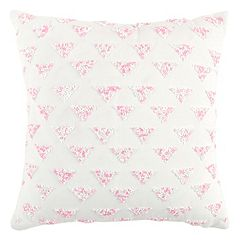 Rizzy Home Beaded Diamond Geometric Throw Pillow