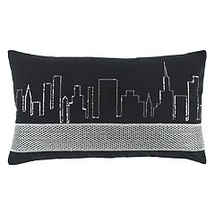 Rizzy Home Cityscape Oblong Throw Pillow