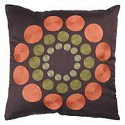 Rizzy Home Circles Geometric Throw Pillow